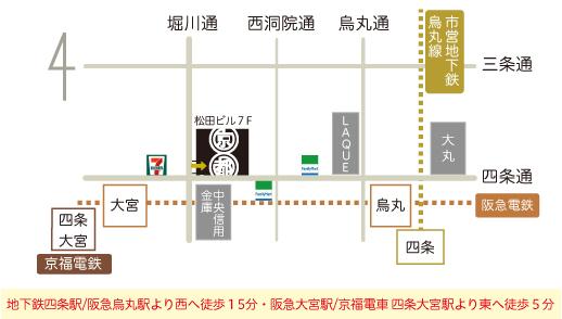 京都のれんへの地図