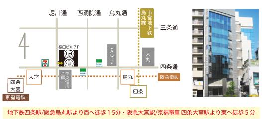 京都のれんショールームへのアクセス