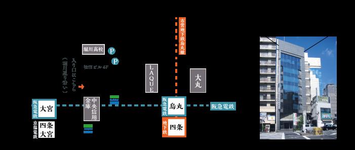 京都のれん株式会社へのアクセス