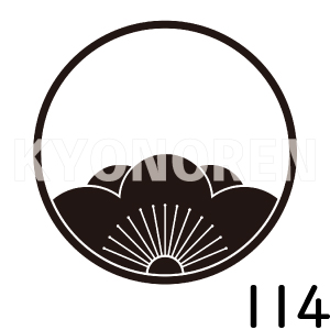 糸輪に覗き向う梅(いとわにのぞきむこううめ)家紋114のれんkyonoren.com