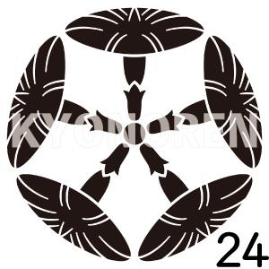五つ朝顔(いつつあさがお)家紋24のれんkyonoren.com