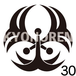 浮線錨(ふせんいかり)家紋30のれんkyonoren.com