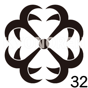 四つ錨(よついかり)家紋32のれんkyonoren.com