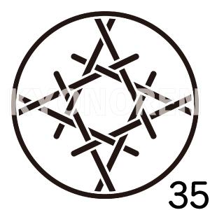 糸輪に糸籠目井桁(いとわにいとかごめいげた)家紋35のれんkyonoren.com