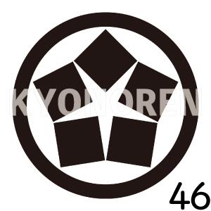 中輪に五つ石(ちゅうわにいつついし)家紋46のれんkyonoren.com