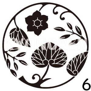 葵草丸(あおいくさまる)家紋6のれんkyonoren.com