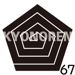 五角稲妻(ごかくいなづま)家紋67のれんkyonoren.com
