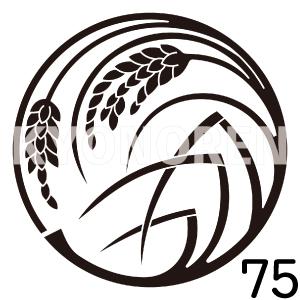 変り稲の丸(かわりいねのまる)家紋75のれんkyonoren.com