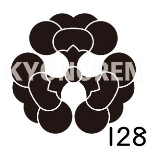 三つ裏梅(みつうらうめ)家紋128のれんkyonoren.com