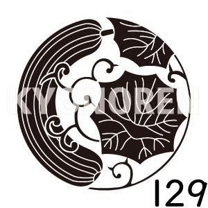 瓜枝の丸(うりえだのまる)家紋129のれんkyonoren.com