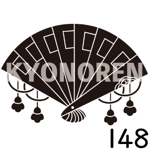 槍扇(ひおうぎ)家紋148のれんkyonoren.com