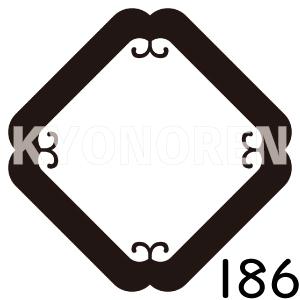 隅入り蔓角(すみいりつるかく)家紋186のれんkyonoren.com