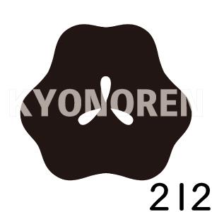 光琳の片喰(こうりんかたばみ)家紋212のれんkyonoren.com