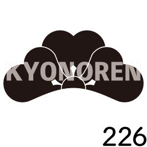 折れ片喰(おれかたばみ)家紋226のれんkyonoren.com