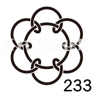 七つ結び釜敷(ななつむすびかましき)家紋233のれんkyonoren.com