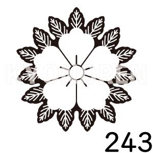 織田唐花(おだからはな)家紋243のれんkyonoren.com
