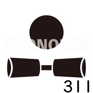 月に杵(つきにきね)家紋311のれんkyonoren.com