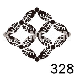 七宝桐(しっぽうぎり)家紋328のれんkyonoren.com
