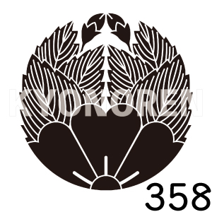 杏葉桜(ぎょうようざくら)家紋358のれんkyonoren.com